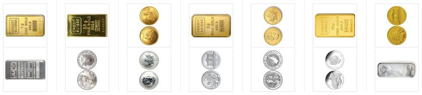 IRS approved precious metals