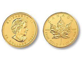 gold canadian maple leaf