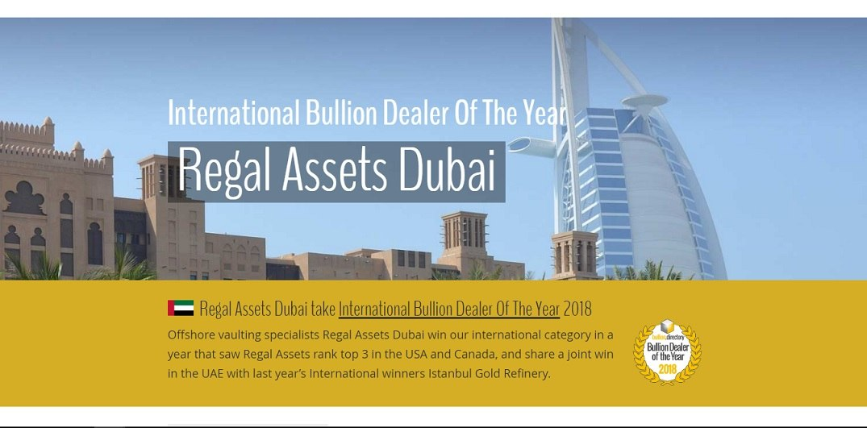 International Bullion Dealer of the Year - Regal Assets RA Dubai DMCC