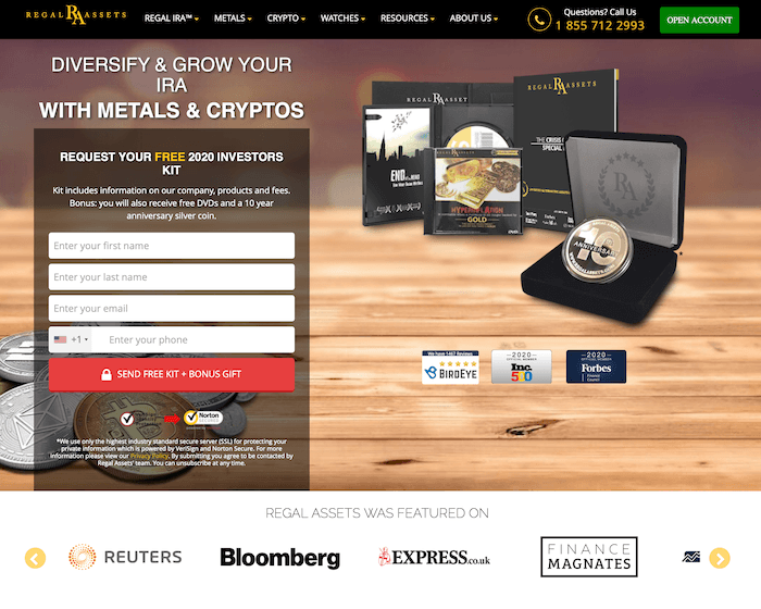 regal assets home page