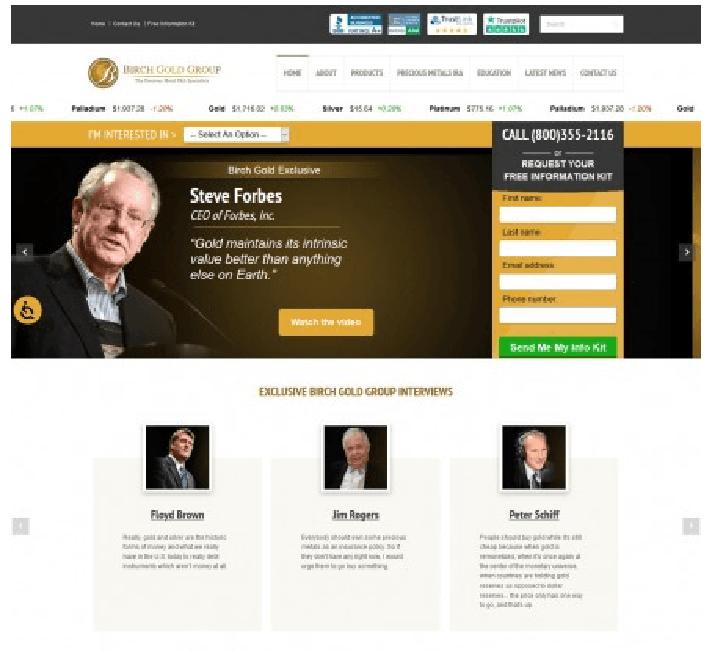 Birch Gold Group official website