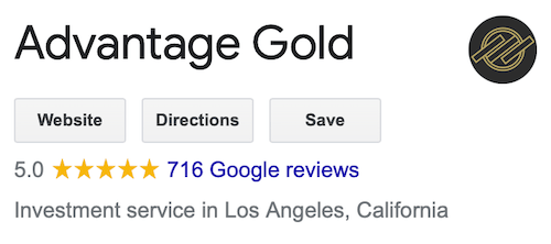 Advantage Gold Google reviews and ratings