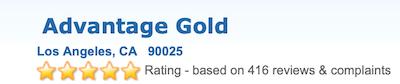 Advantage Gold Trustlink rating