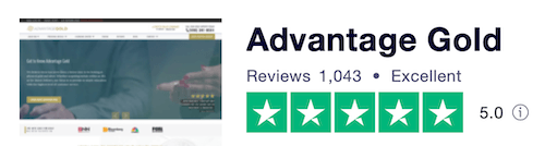 Advantage Gold Trustpilot reviews and ratings