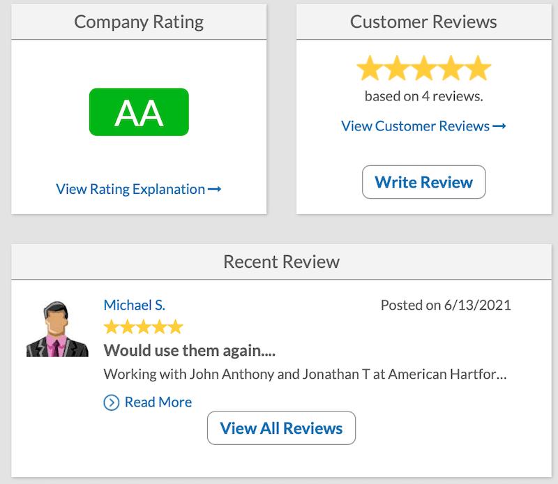 American Hartford Gold BCA Reviews and Rating