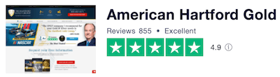 American Hartford Gold Trust Pilot Reviews and Rating 1