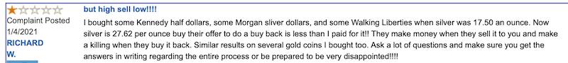 Birch Gold Group Review Trustlink complaint
